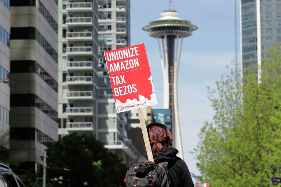 Downtown business organizations ask city council to reconsider 'Amazon Tax' Photo: Ted S. Warren, STF / Associated Press / Copyright 2020 The Associated Press. All rights reserved.