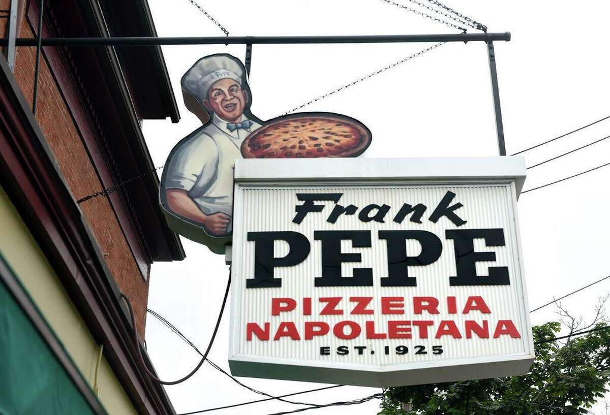 Frank Pepe Pizzeria Napoletana on Wooster Street in New Haven photographed on August 6, 2019. Alongside the release of their new pie, Pepe's is giving away $20 E-Gift Cards for every $100 in E-Gift Cards purchased online.