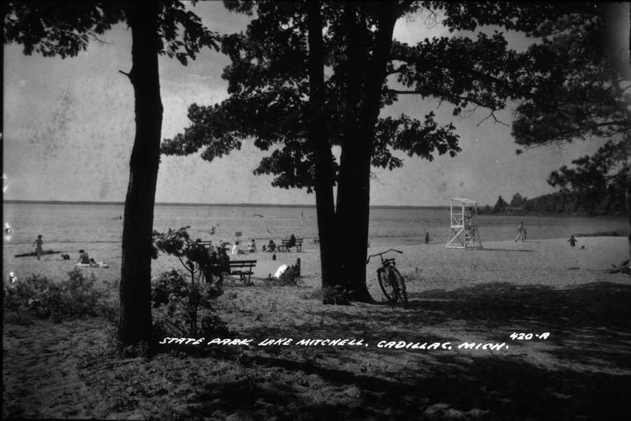 A historical photo shows visitors at William Mitchell State Park in Wexford County. (Courtesy photo/Michigan Department of Natural Resources)