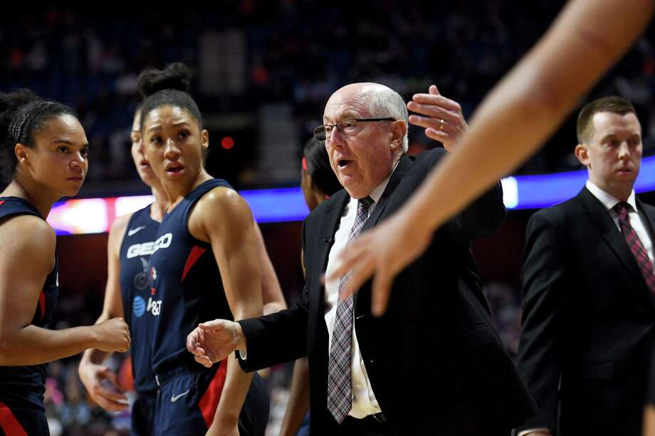 Washington Mystics Coach Mike Thibault, shown in October 2019, will try to lead the team back to title contention. Photo: Washington Post Photo By Katherine Frey / The Washington Post