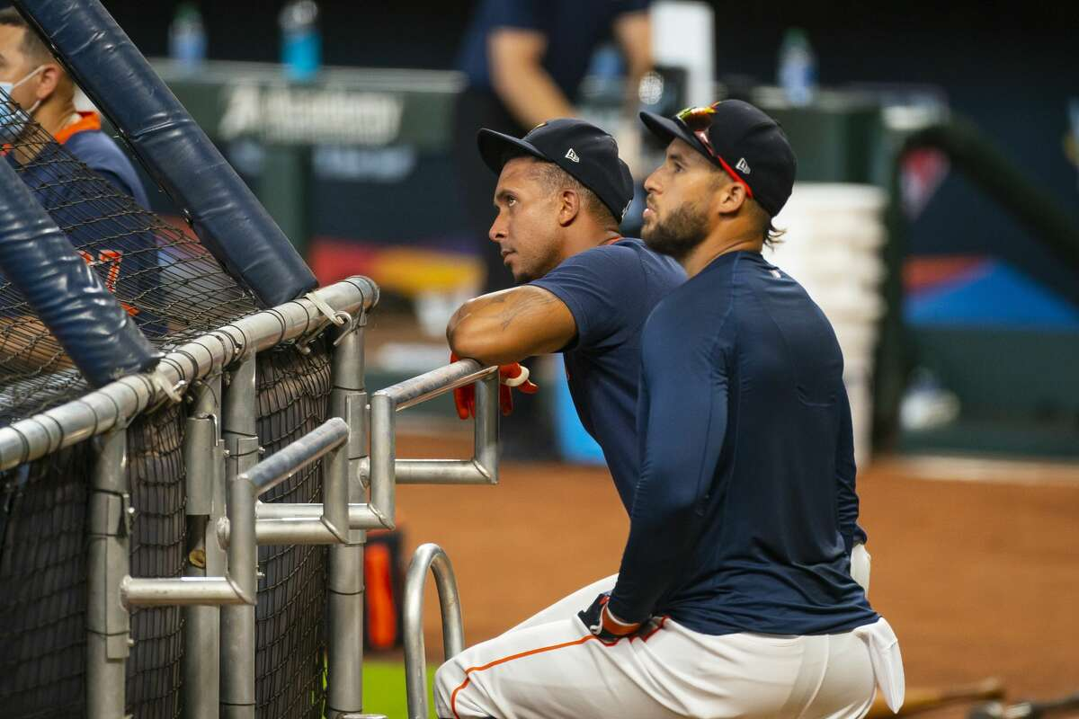Outfielders Michael Brantley (left) and George Springer arguably are the Astros' most notable free agents this offseason.