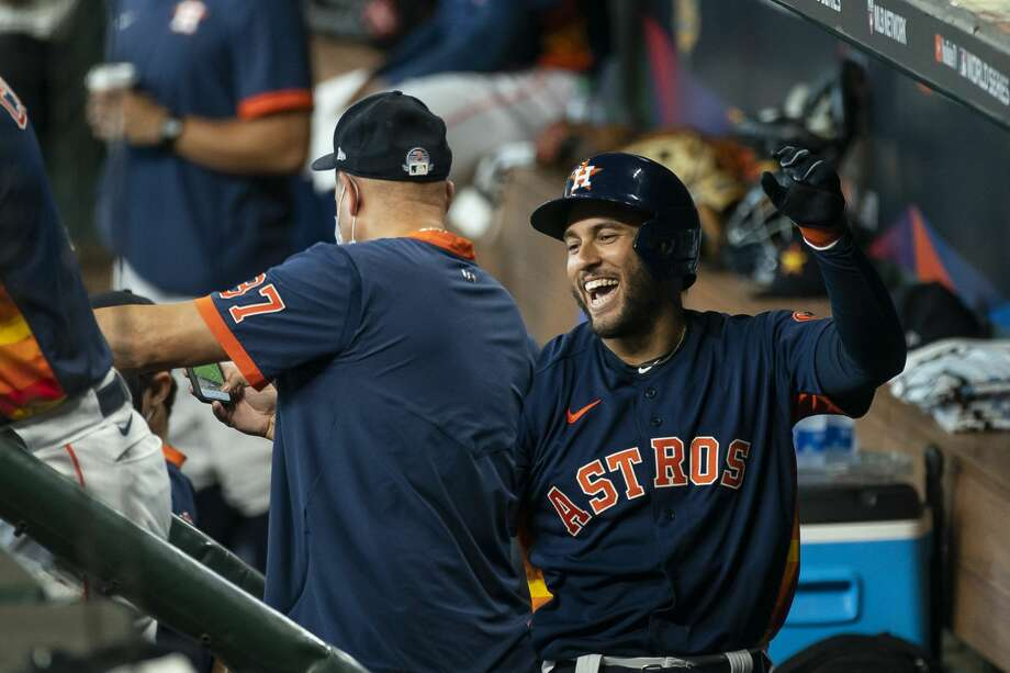 George Springer and the Astros open the 2020 season on Friday night against the Seattle Mariners. Are we really going to be able to get through 60 regular season games and then an extended postseason without having to shut it all down? Photo: Mark Mulligan/Staff Photographer / © 2020 Mark Mulligan / Houston Chronicle