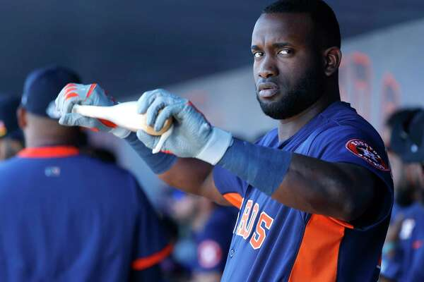 """All the Astros can say about Yordan Alvarez's absence from summer camp is that he has """"a condition that prevents him from reporting to the field."""""""
