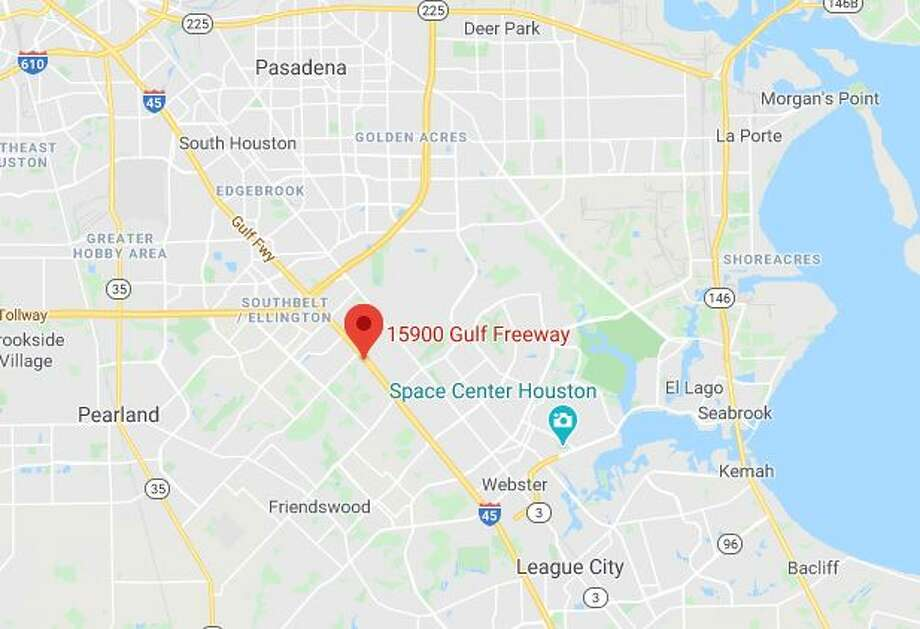 Houston police reported a fatality crash late Monday in the northbound lanes of the 15900 block of the Gulf Freeway. Photo: Google Maps
