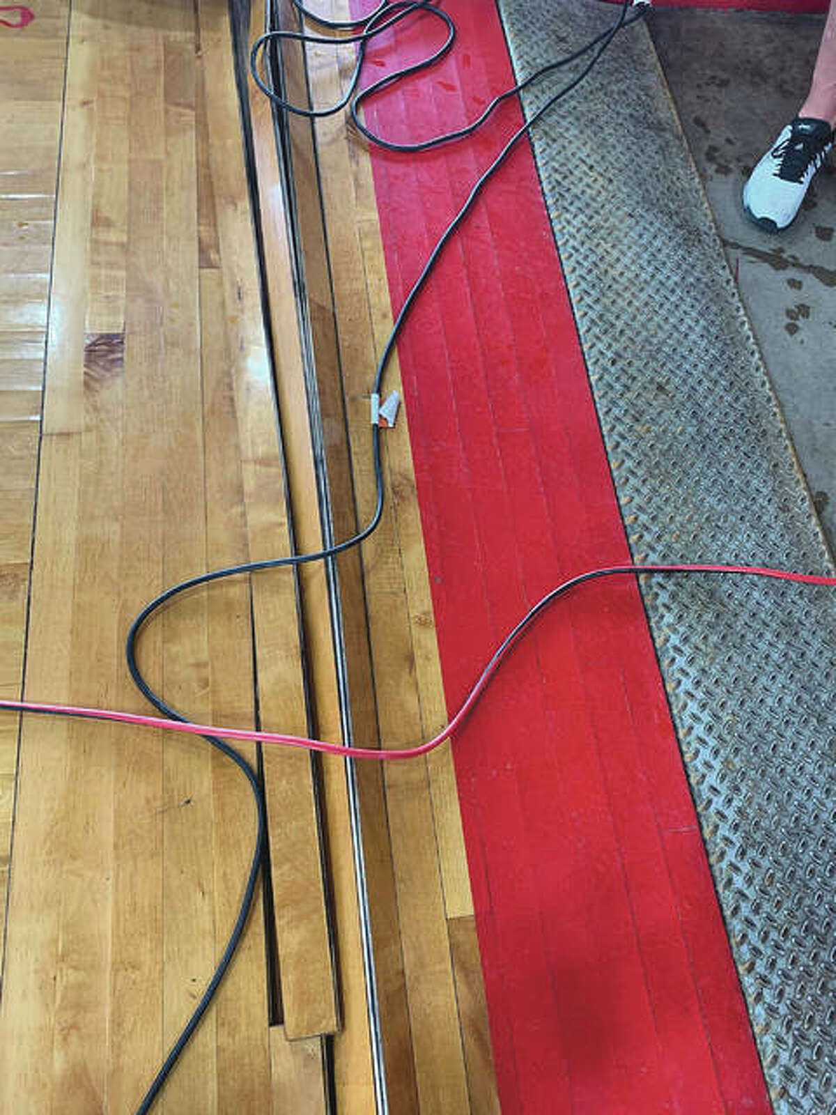 The wood floor of the JHS Bowl sustained water damage and likely needs to be replaced. Jacksonville School District 117 is considering giving community members a chance to buy pieces of the old floor.