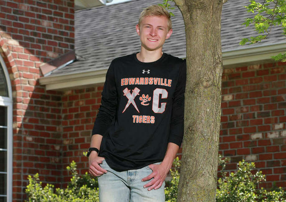 Edwardsville's Jack Pifer, a four-time state qualifier with the Tigers, is the 2019 Telegraph Large-Schools Boys Cross Country Runner of the Year. Photo: Billy Hurst, Front Row Photo / For The Telegraph