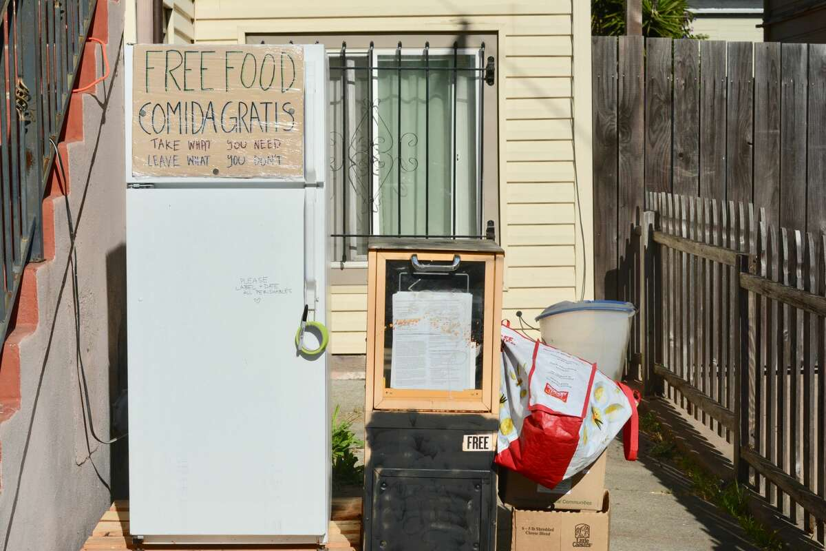 A Town Fridge outside 30th and Linden in Oakland.