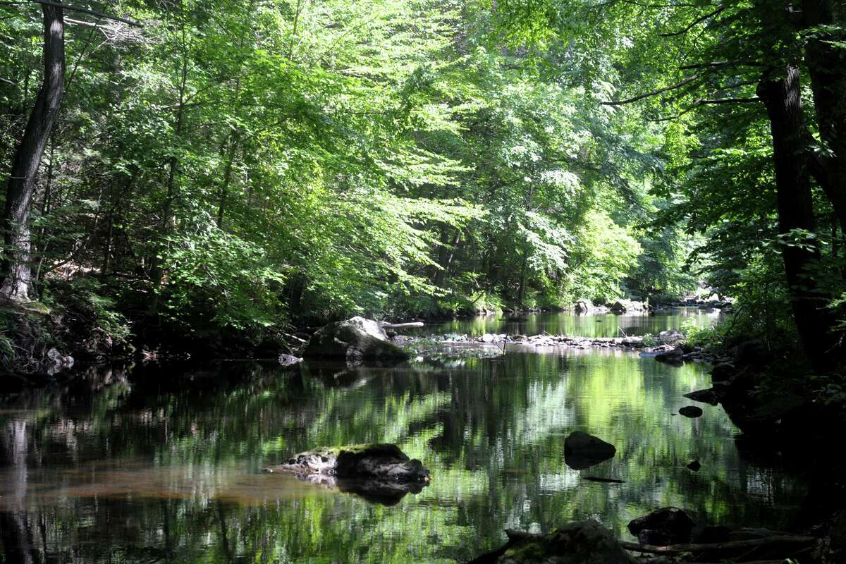 The Far Mill River, seen here from Far Mill Park in Shelton.