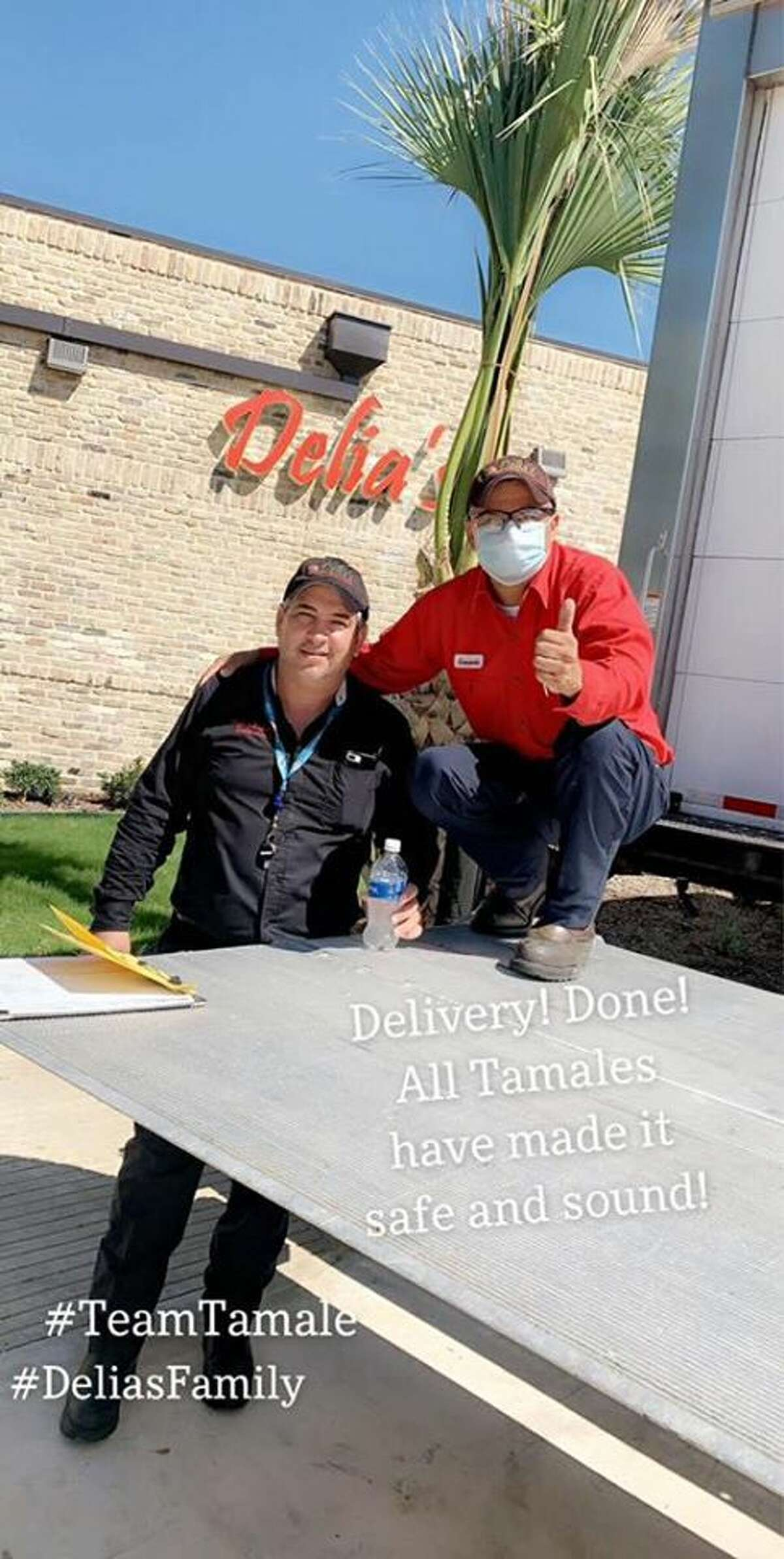 A spokesperson for Delia's Tamales said all food is served fresh at all locations. The boxes contain raw tamales, which are ready to be cooked, just like in the Rio Grande Valley.