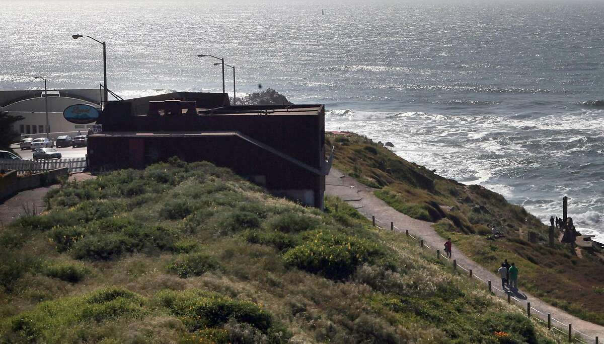 Louis' Restaurant (at left) by Sutro baths in San Francisco, Calif., on Friday, April 9, 2010. After 73 years operating Louis' Restaurant at the edge of the Pacific Ocean, the Hontalas family is facing possible lease problems with the National Park Serv