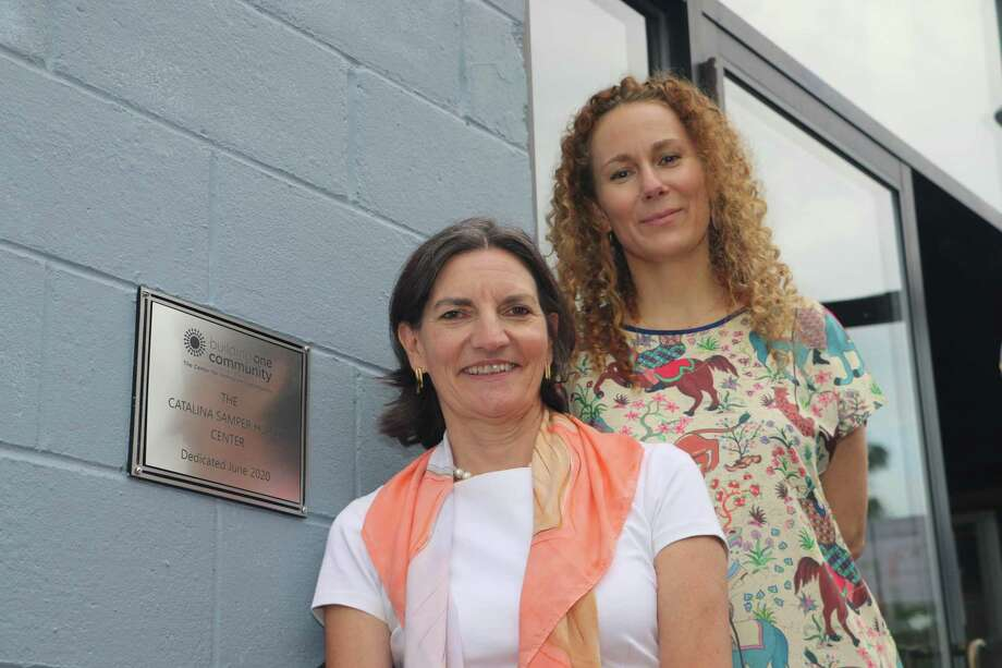 Catalina Horak, left, recently stepped down as Executive Director of Stamford-based Building One Community. Anka Badurina, right, has taken over as the organization's Executive Director. Photo: Contributed Photo