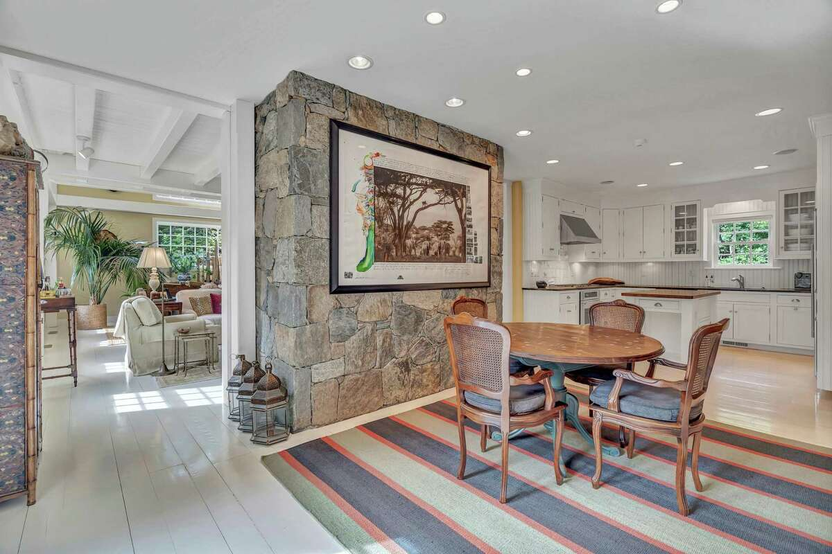The eat-in section of the kitchen is open to the spacious living or great room.