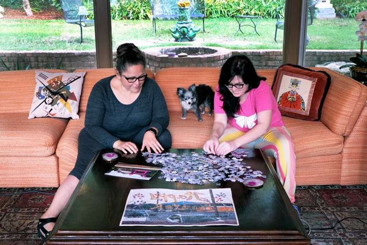 Artist Ana Fernandez (left) and gallerist Susan Oliver Heard founded the Art Puzzle Project.