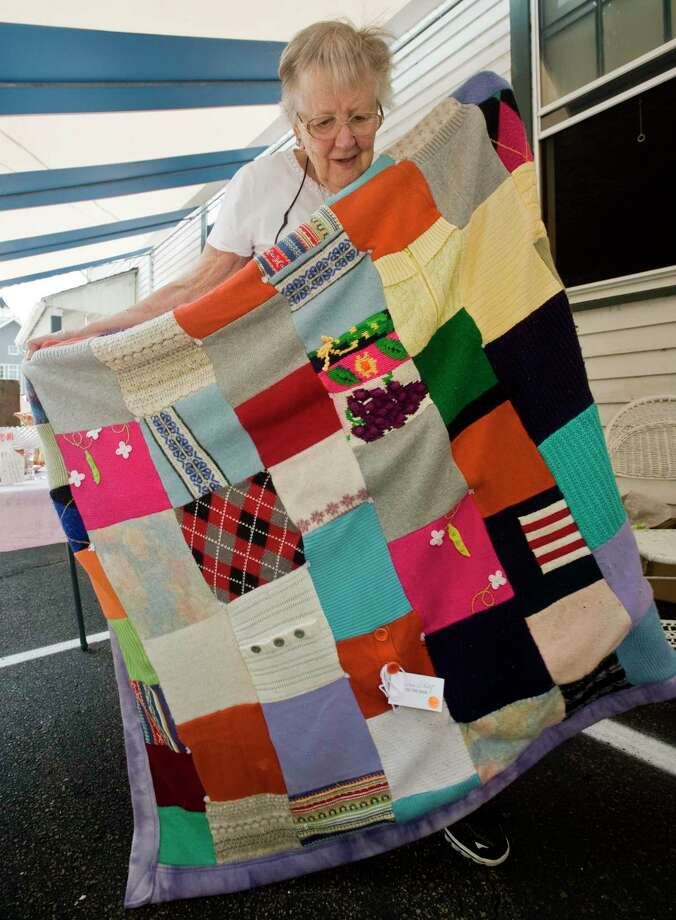 Ann Klotz, of Wilton, won a first place ribbon for one of her quilts at the 86th Annual Cannon Grange Agricultural Fair in 2018. This year, sewing and needlework projects will be entered virtually. Photo: Scott Mullin / For Hearst Connecticut Media / The News-Times Freelance