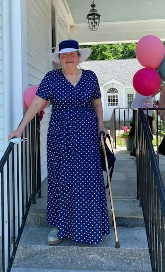 The Sherman Congregational Church recently held a farewell party for its longtime secretary Edna Coons, who retired July 15. Photo: Courtesy Of Deb Thorp / Danbury News Times Contributed