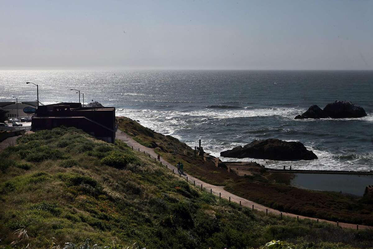 Louis' Restaurant (at left) by Sutro baths in San Francisco, Calif., on Friday, April 9, 2010. After 73 years operating Louis' Restaurant at the edge of the Pacific Ocean, the Hontalas family is facing possible lease problems with the National Park Service.