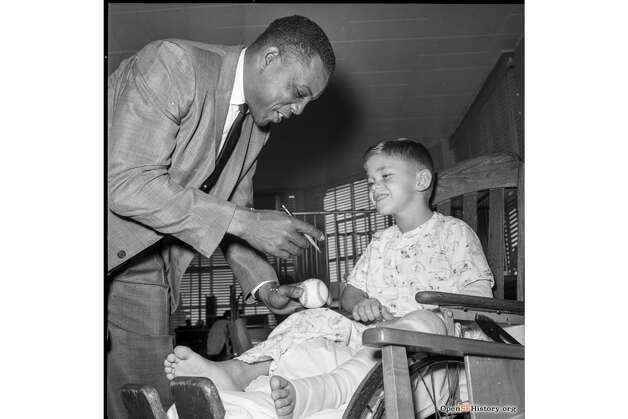 San Francisco Giants legend Willie Mays makes a hospital visit in the 1960s. To see more historic photos of the city, visit the Western Neighborhoods Project. Katie Dowd is the SFGATE managing editor. Email her: katie.dowd@sfgate.com | Twitter: @katiedowd Photo: OpenSFHistory / Wnp28.4010.jpg