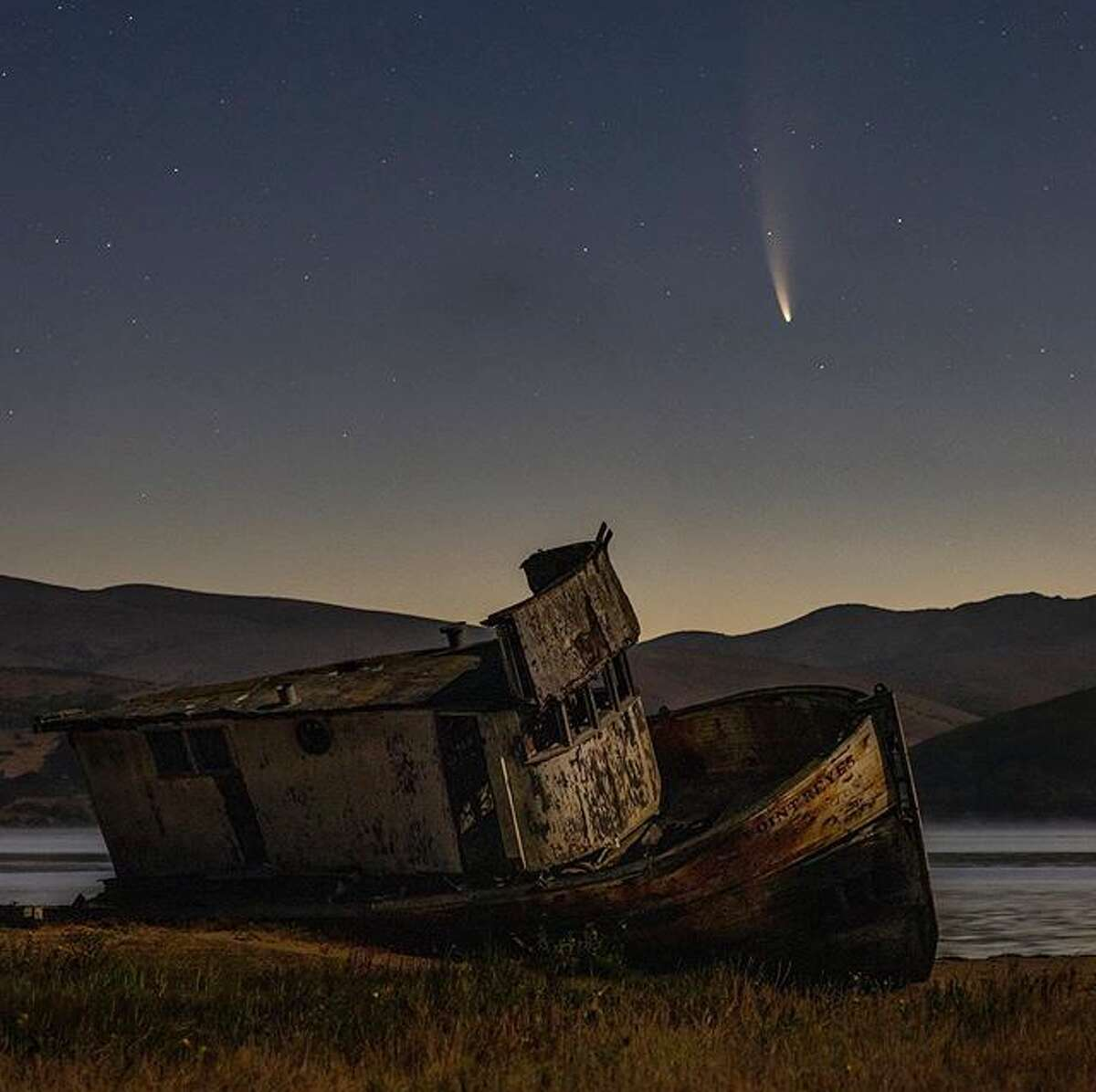 @andre.takes.photos captured Comet Neowise near the Pt. Reyes ship wreck.