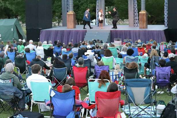 """Stamford's Curtain Call will be presenting """"Shakespeare & Song"""" - essentially a Shakespearean cabaret event - for two weeks, beginning July 24. Unlike the previous production pictured, """"Shakespeare & Song"""" will meet social-distancing requirements."""