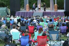 "Stamford's Curtain Call will be presenting ""Shakespeare & Song"" - essentially a Shakespearean cabaret event - for two weeks, beginning July 24. Unlike the previous production pictured, ""Shakespeare & Song"" will meet social-distancing requirements."