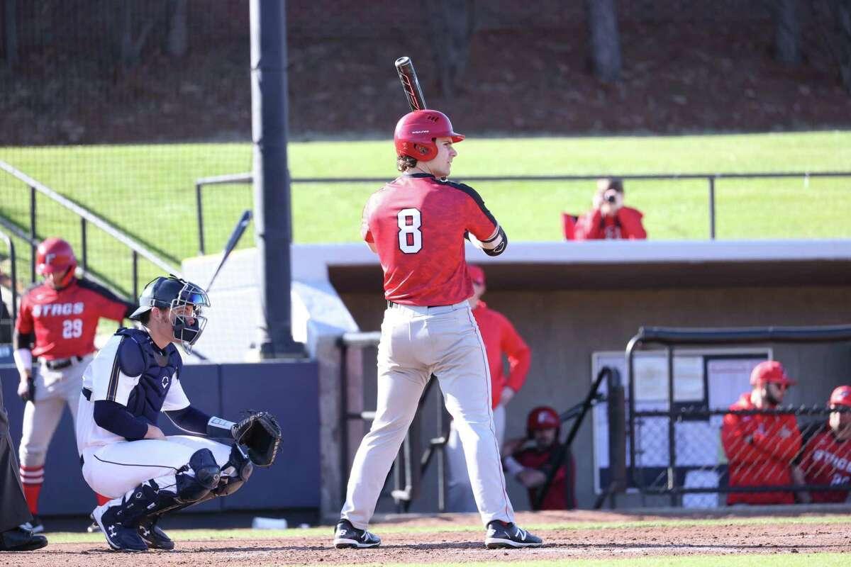 Fairfield University freshman baseball player Charlie Pagliarini, a Trumbull native. 2020