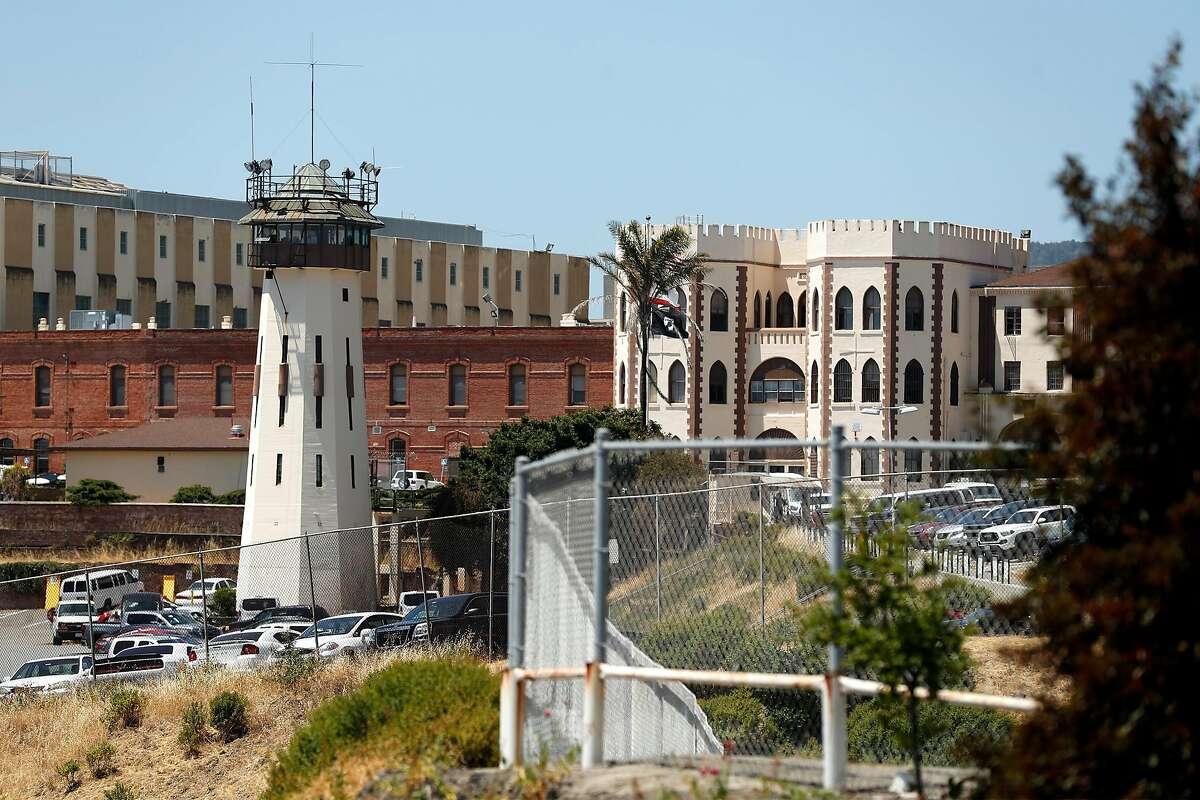 Coronavirus-ravaged San Quentin prison in San Quentin, Calif., on Thursday, July 9, 2020.