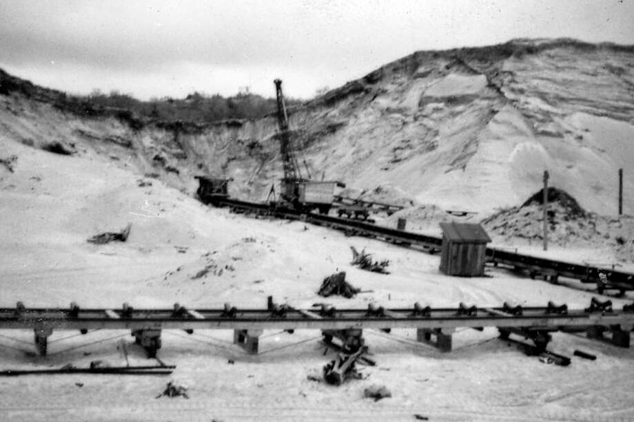 Mining for sand in Manistee's Northside circa 1950s.