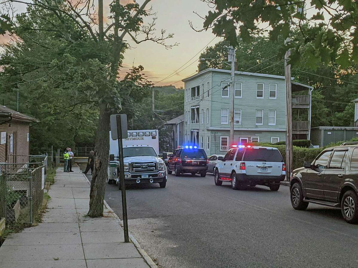 First responders on scene for a reported shooting in Ansonia, Conn., on Tuesday, July 14, 2020.