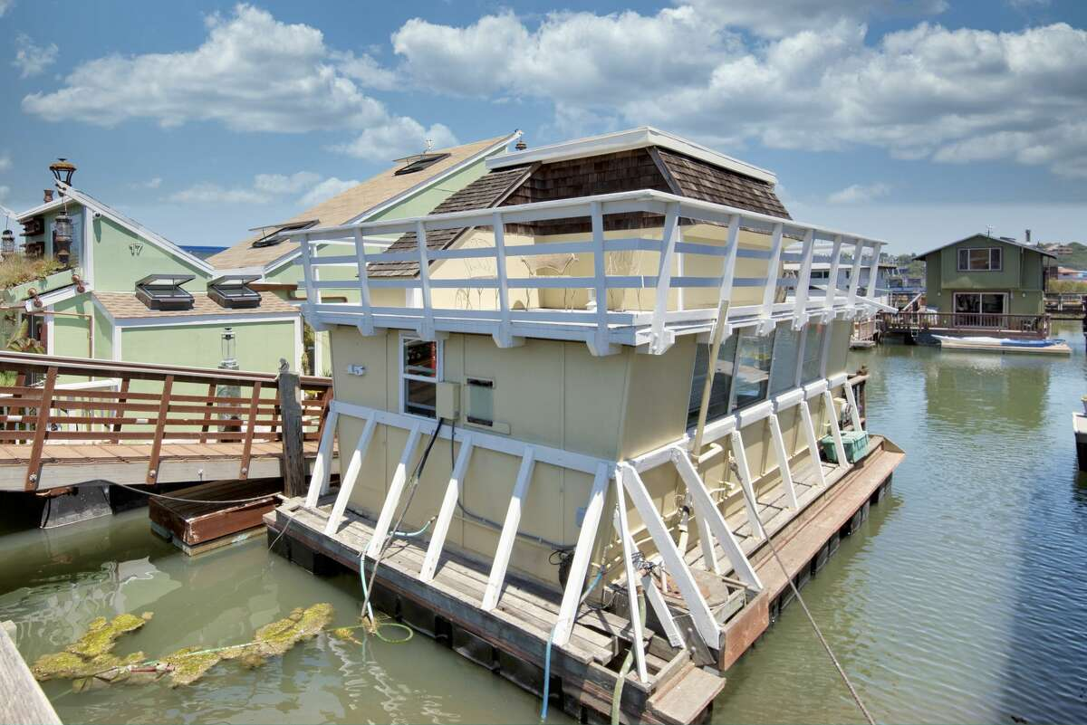 The floating home comes with its own berth on the San Francisco Bay.