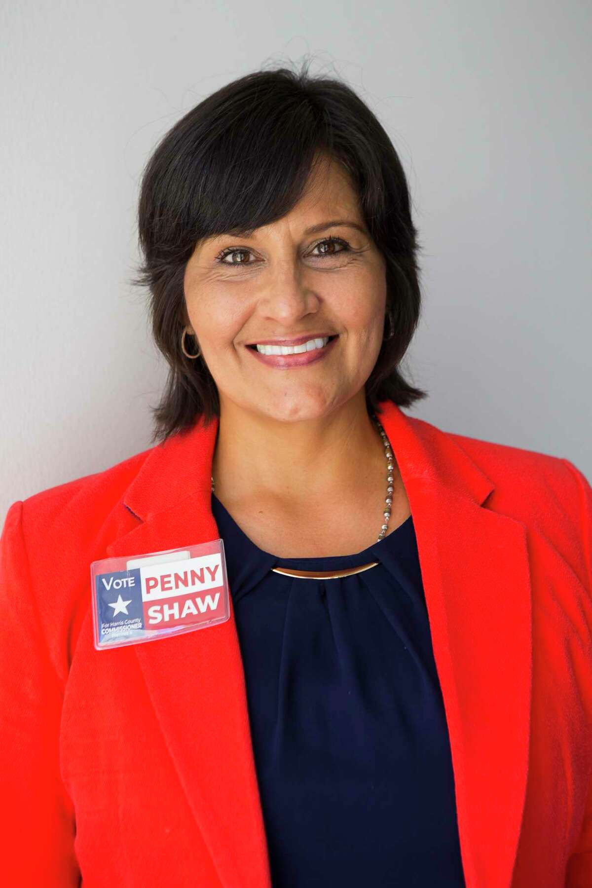 County Commissioner candidate Penny Shaw, Wednesday, Oct. 3, 2018 in Houston.