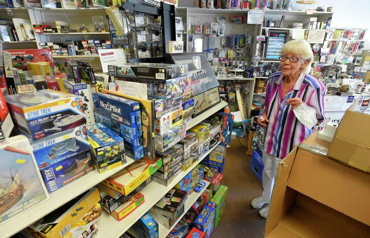 Ann Suger, owner of Ann's Hobby Center in Cos Cob, Connecticut on July 14, 2020, talks shop while waiting for customers. Suger began working at the hobby shop as a part time employee, where she would spend 15 years often running the store. Eventually she took over the store to make it officially her own, providing plastic and wood model supplies to the Fairfield County, Westchester County (N.Y.) hobby enthusiasts for the past 20 years. The store offers a wide selection of hobby items such as Lionel trains, magazines and books and their top selling item, according to Ann, Rockets. Customers of all ages discover their creativity with a wide selection of thousands of hobby items and crafting essentials.