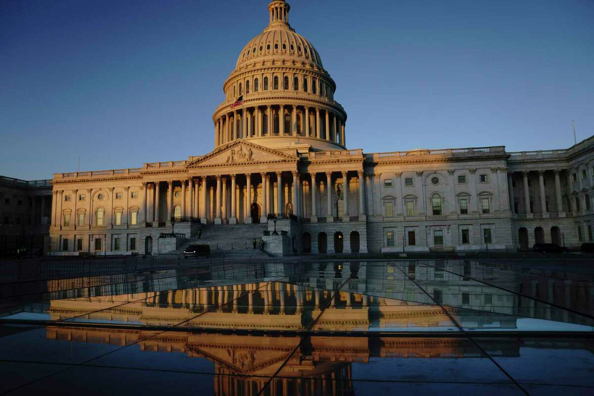 The U.S. Capitol is seen at sunrise in Washington.