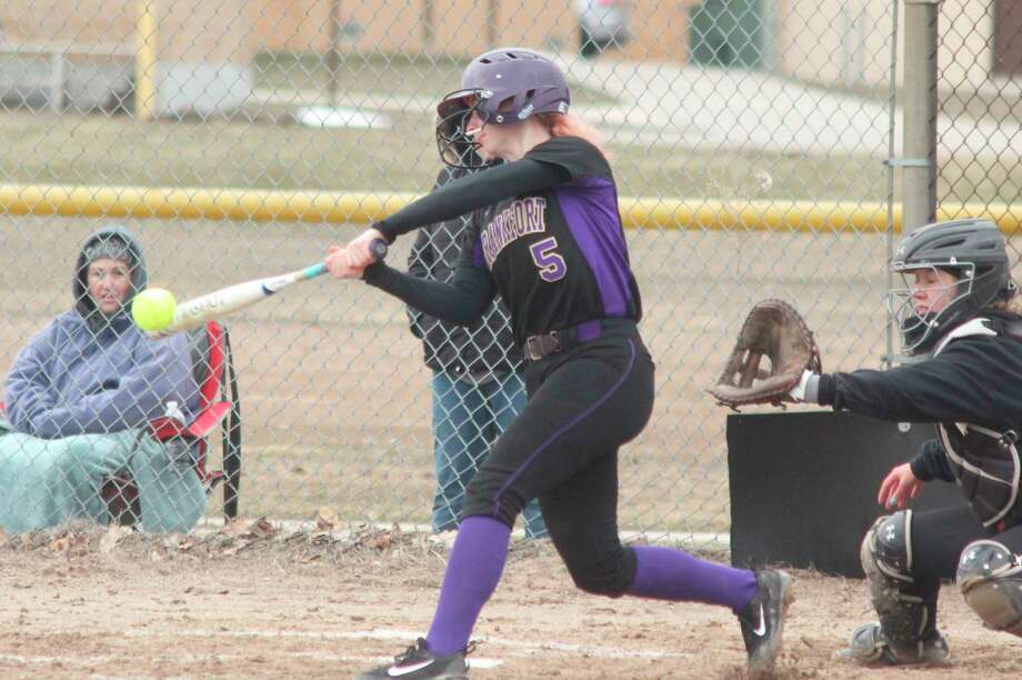 Haley Myers barrels up a pitch during her sophomore season in 2018. (File photo)