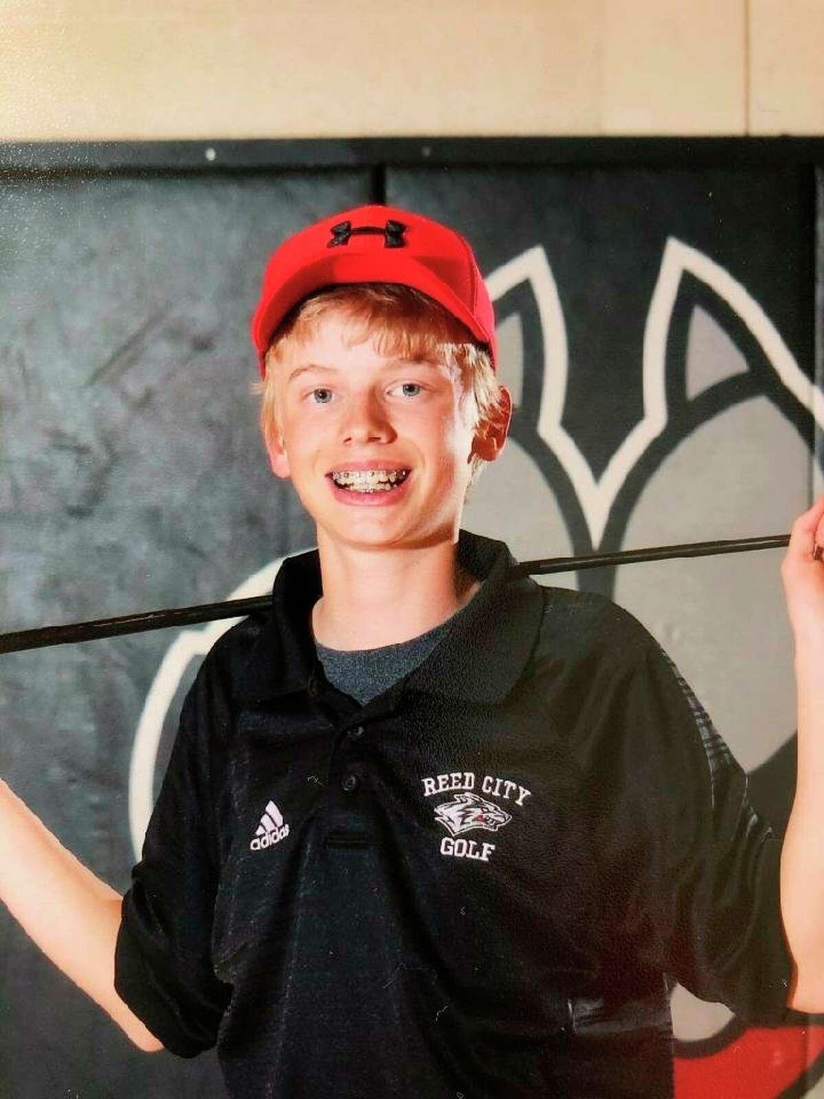 Fischer Morrison is among Reed City's top golfers. (Herald Review photo/John Raffel)