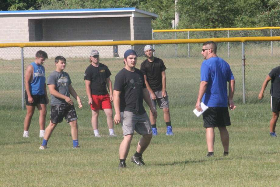 Morley Stanwood football players had a conditioning session with coach Art Campione on Monday Morley Stanwood football players had a conditioning session with coach Art Campione on Monday Photo: John Raffel