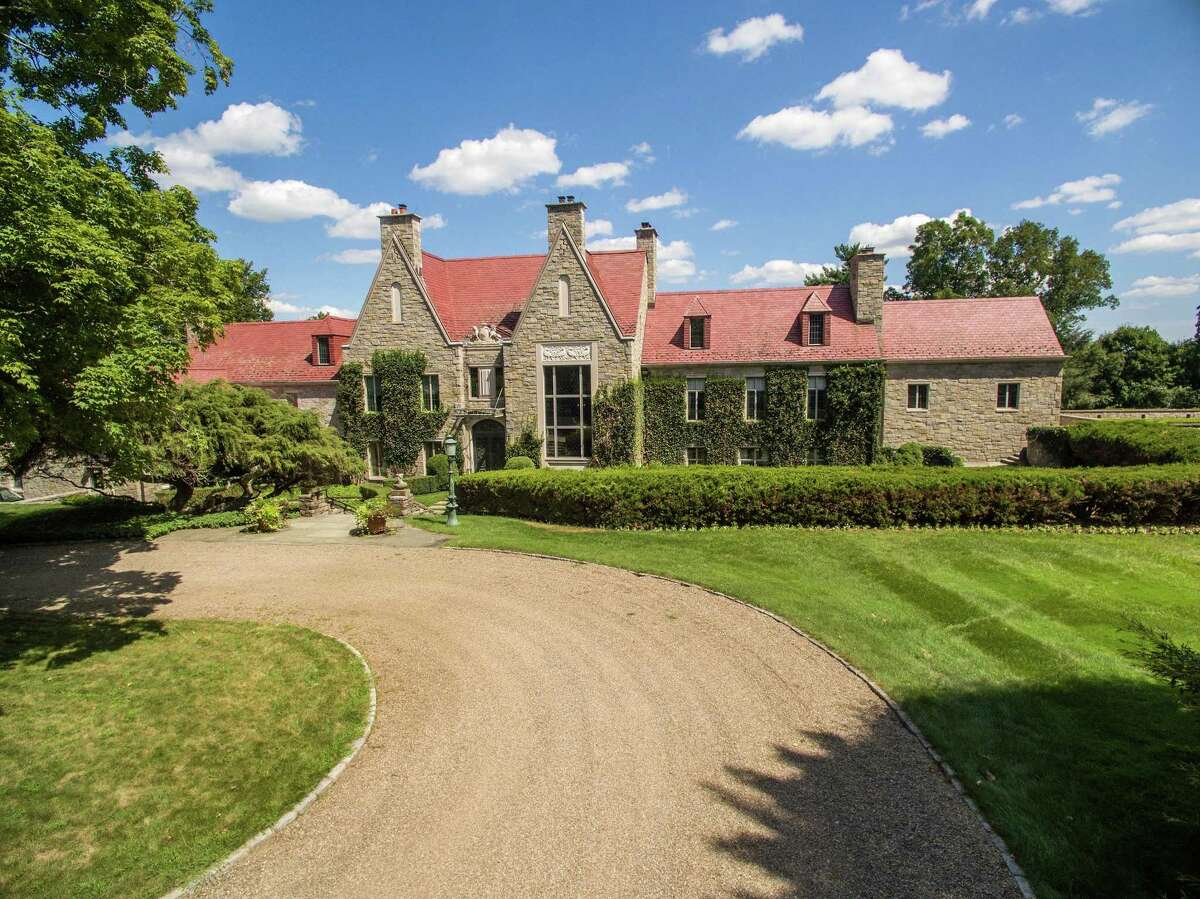 The Hillandale Estate, located at 1233 Rock Rimmon Road on the Stamford-Pound Ridge, N.Y. border, has gone back on the market for approximately $50 million.