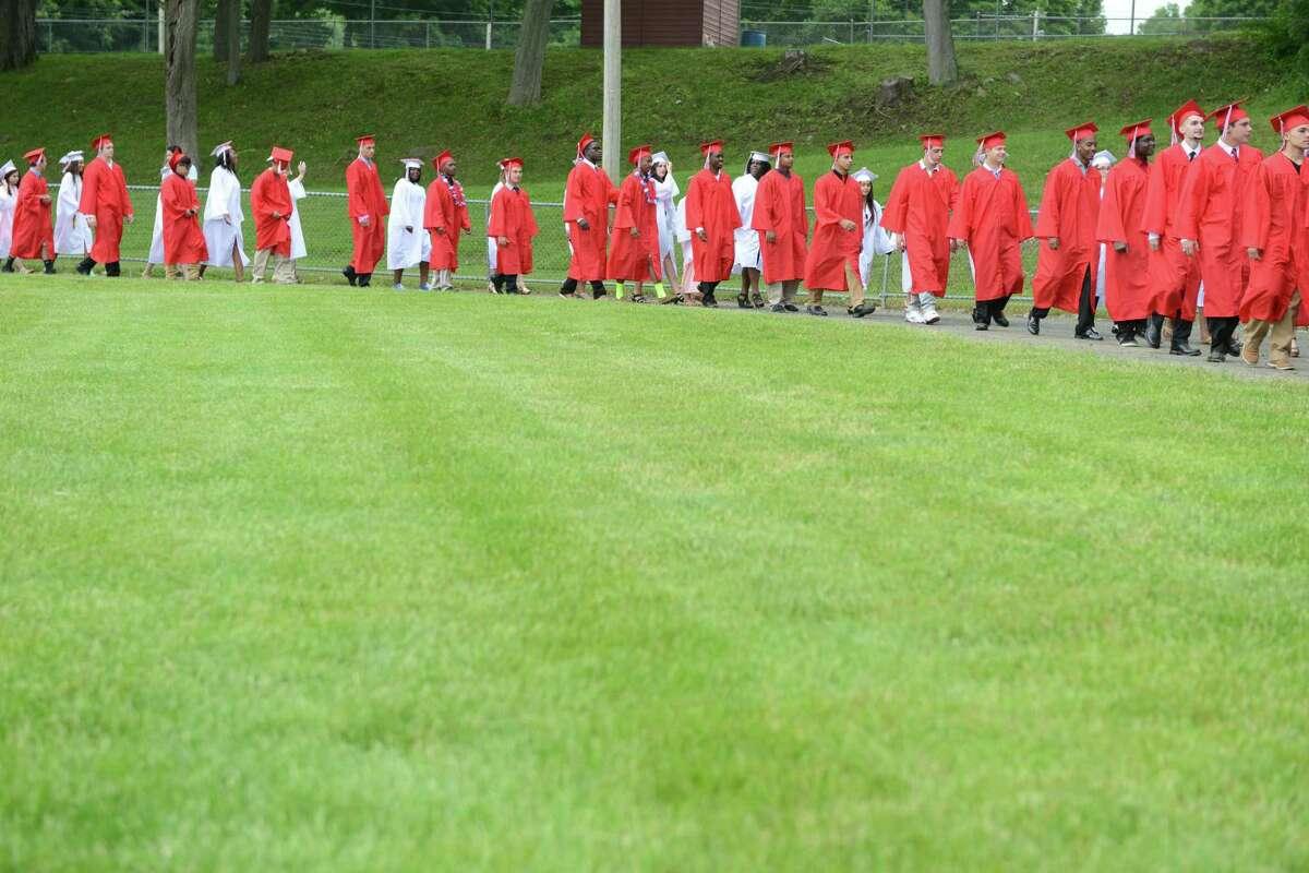 Derby High School will conduct the graduation of 73 High School seniors tonight on the Lou DeFilippo Football Field.