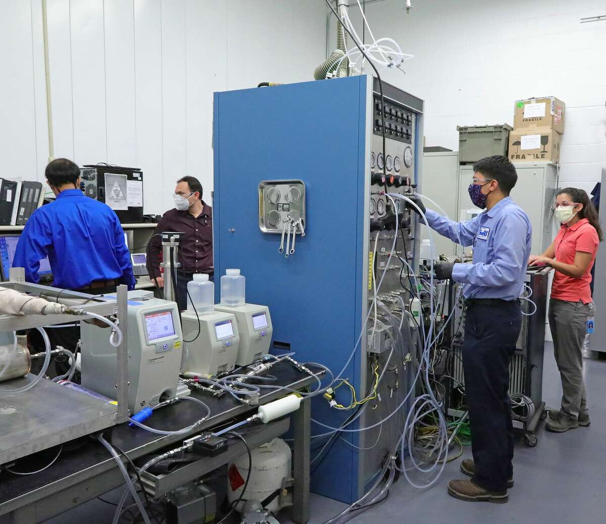 Southwest Research Institute announced Tuesday that its Particle Science and Technology Laboratory is now testing face masks to check for counterfeit or underperforming masks.