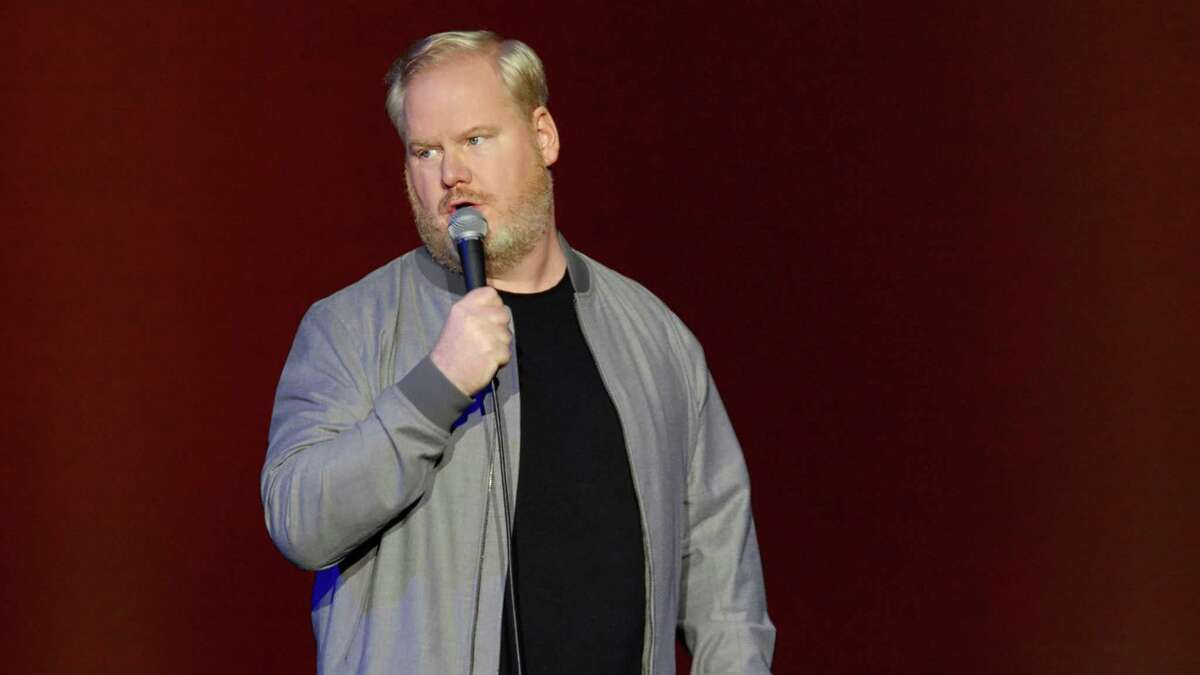 Jim Gaffigan makes an aside during the Canadian performance of his two-part special.