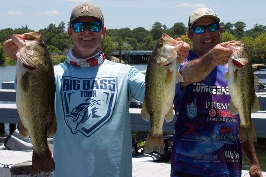 Matt Little and Robert Baney won the CONROEBASS Weekend Series tournament with a stringer weight of 13.71 pounds. Photo: CONROEBASS