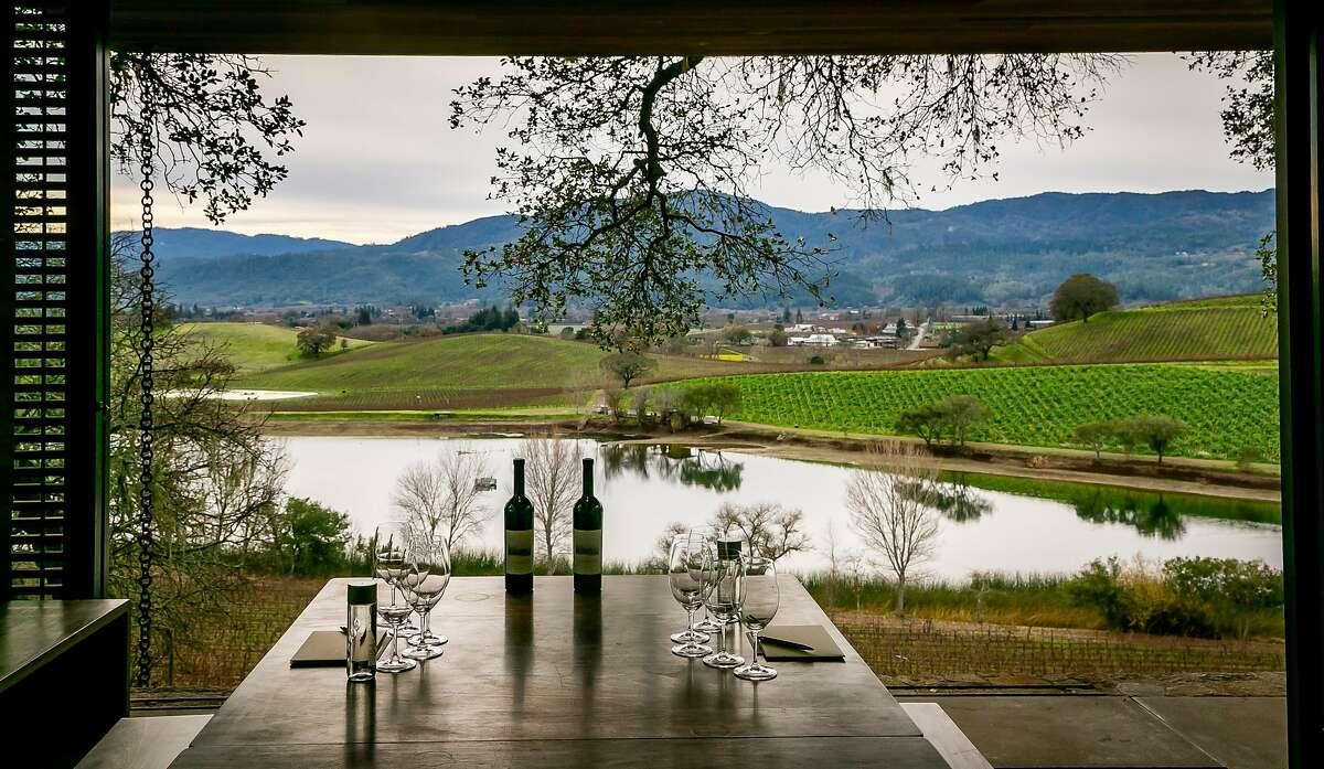 Quintessa Winery in Napa is still able to use some of its semi-outdoor pavilions for wine tastings.