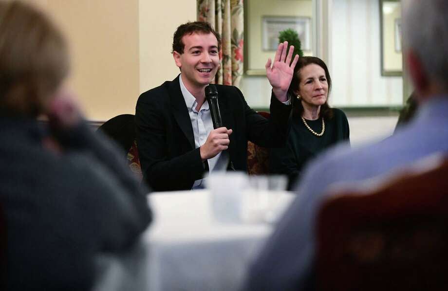 State Senator Will Haskell and State Representative Gail Lavielle discuss legislative priorities at the Greens at Cannondale assisted-living facilty on Feb. 1, 2020 in Wilton, Conn. Photo: Erik Trautmann / Hearst Connecticut Media / Norwalk Hour