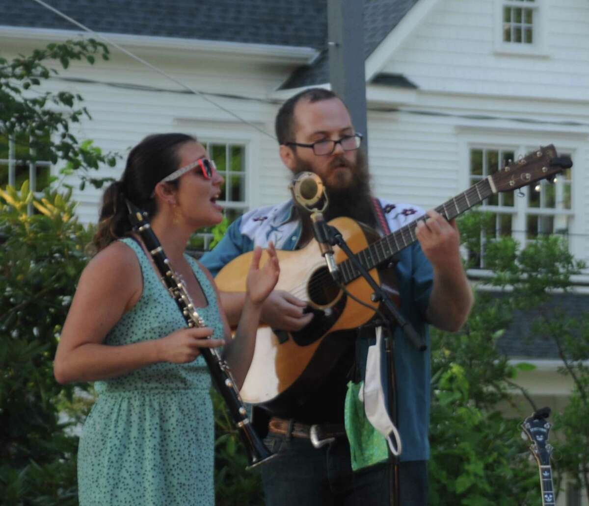 Vocalist Jesse Eliot Myhre and guitarist Chris Ousley, the Bumper Jacksons Duo, start the CHIRP music season in Ridgefield's Ballard Park on Thursday night, July 9. Next Tuesday evening The Mammals play.