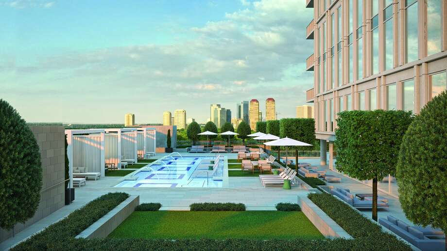 The Hawthorne's residents enjoy many amenities, including a luxury pool. Photo: Courtesy Pelican Builders