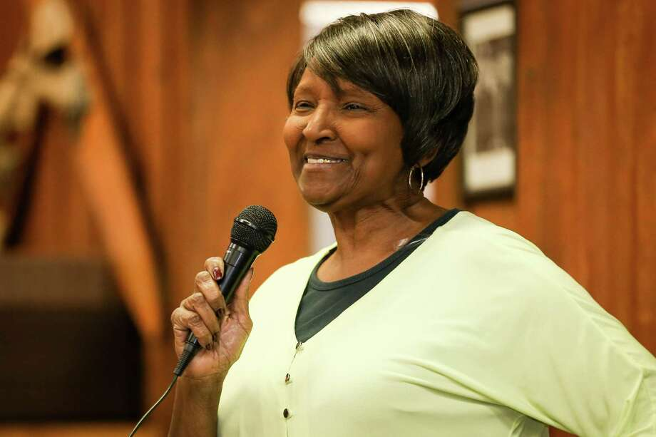 Annie Burnett, candidate for Conroe City Council Place 4, smiles during the forum sponsored by the Greater Conroe Arts Alliance on Monday, April 9, 2018, at McKenzie's Barbeque. Burnett is being remembered for her passion for the community after passing away on July 10 at age 73. Photo: Michael Minasi, Staff Photographer / Houston Chronicle / © 2018 Houston Chronicle