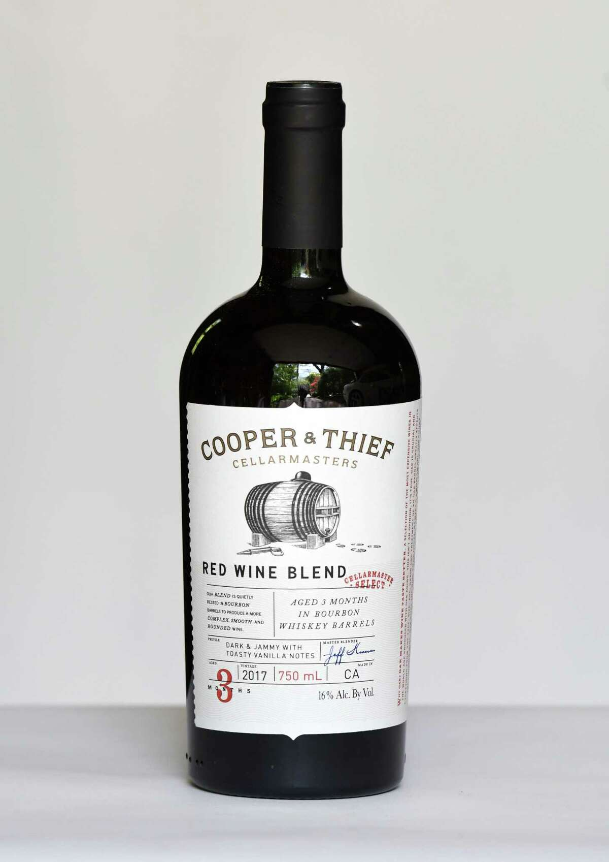 Cooper and Thief red blend on Tuesday, May, 19, 2020, in Delmar, N.Y. (Will Waldron/Times Union)