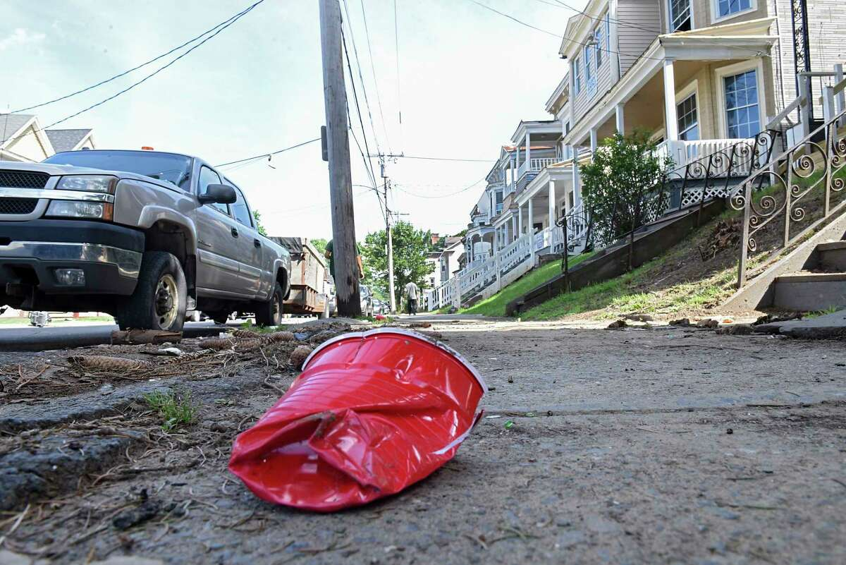 Scene at the Hudson Ave. neighborhood where a large 4th of July party took place Wednesday, July 15, 2020 in Albany, N.Y. (Lori Van Buren/Times Union)