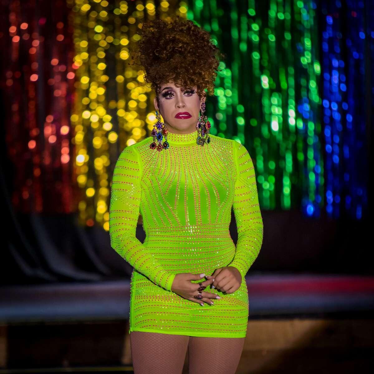 Violet S'Arbleu performs in drag in Houston.