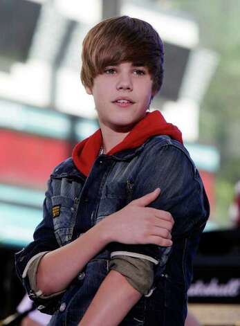 "In this June 4, 2010 file photo, singer Justin Bieber appears on the NBC ""Today"" television program in New York. (AP Photo/Richard Drew, file) Photo: Richard Drew / AP"