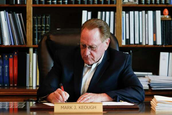 Montgomery County Judge Mark Keough again took to social media to urge Gov. Greg Abbott reopen the state '100 percent,' noting the survival rate of COVID-19 in Montgomery County is about 99 percent.